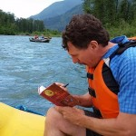 Carew Papritz does the First-Ever Book Signing while Kayaking the Skagit River in WA